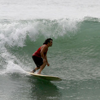 Local wave in Cabuya