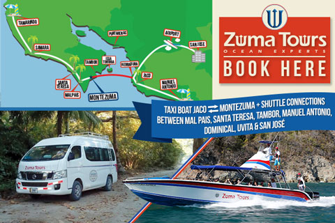 Zuma Tours Taxi Boat Montezuma Jaco